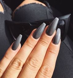 grey coffin nails - Google Search