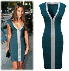 Zip up tight dress
