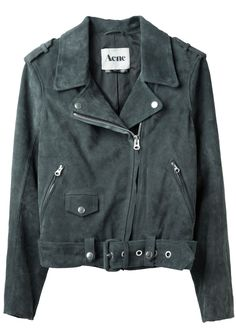 ACNE /  MAPE SUEDE MOTOCYCLE JACKET, i wish i could pull this off