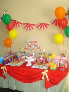 Gabriel and Belle Celebrations: Carnival Theme Dessert Table