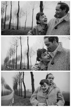 Audrey Hepburn and husband Mel Ferrer.