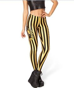 Part of my outfit for my HP themed Bday party? Hufflepuff Leggings by Black Milk Clothing Yellow Leggings, Striped Leggings, Printed Leggings, Yellow Pants, Leggings Store, Best Leggings, Leggings Are Not Pants, Awesome Leggings, Sexy Outfits