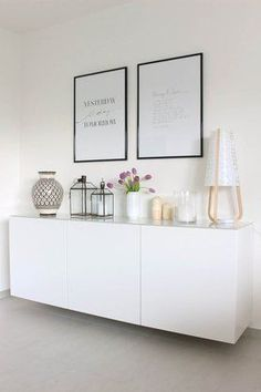 Sideboard in the living room .- Sideboard in the living room More Source by maykaykey - Home Living Room, Living Room Decor, Decor Room, Home Decor, Apartment Living, Muebles Living, Scandinavian Design, Interior Inspiration, Bedroom Inspiration