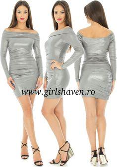 Rochie de club argintie