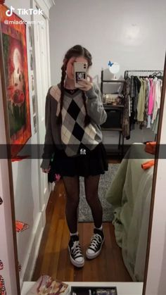 Indie Outfits, Edgy Outfits, Retro Outfits, Grunge Outfits, Cute Casual Outfits, Skirt Outfits, New Outfits, Fashion Outfits, Mode Emo