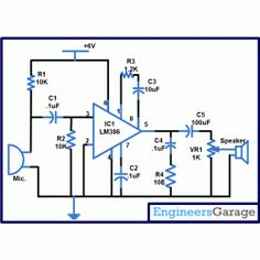 Circuit Diagram for Two Way Intercom Dc Circuit, Circuit Diagram, Audio Amplifier, Intercom, Data Sheets, Electronics Projects, Circuits, Arduino, Raspberry