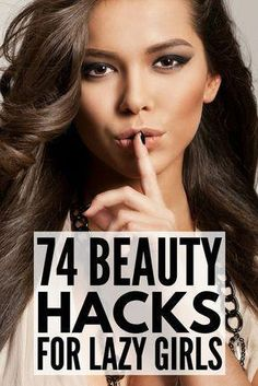 Beauty hacks. We love them. From hot weather makeup tips and overnight beauty regimes, to acne and blackhead busters, teeth-whitening formulas, and shaving secrets, there are so many natural (and sometimes weird!) DIY tricks out there that every girl should know. Check out 74 of our favorite beauty hacks to help you look your best in less time while on a budget! #WartsOnFace Make Up Looks, How To Look Pretty, Beauty Hacks For Teens, Beauty Hacks On A Budget, Beauty Regime, Looks Black, Girl Tips, Smokey Eye Makeup, Cool Hair Color