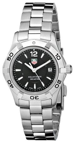 "TAG Heuer Women's ""Aquaracer"" Stainless Steel Sport Watch... I'm a HUGE fan of this watch. I've had mine for 10 years this year and rarely take it off."