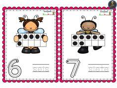 Bonitas tarjetas de números del 0 al 10 – Imagenes Educativas Peanuts Comics, Math, Preschool Math Activities, Math Resources, Early Math, Mathematics