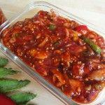 Fermented squid side dish Ojingeojeot 오징어젓