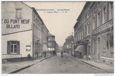 22724g BILLARD - CAFE du PONT NEUF - GRANDE EPICERIE CENTRALE - Rue NEUVE - Marchienne-au-Pont - 1907