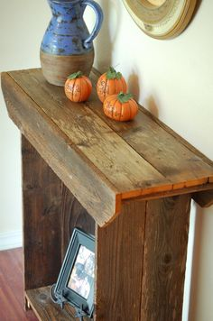 Console Table WITH CLEAR COAT Entry Table Wall by TRUECONNECTION, $389.00