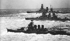 IJN 2 Kongo-class battleships and a light cruiser...