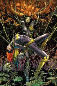 Batgirl vs Poison Ivy by Clay Mann