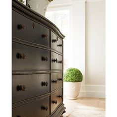 Master Bedroom - Continental-Double Dresser Ebony