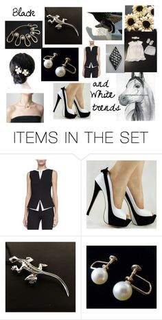 """Black and white"" by stavrosdragatakis ❤ liked on Polyvore featuring art and dragatakisjewelry"