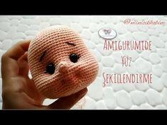 Como moldar o rosto de bonecas amigurumis? Crochet Amigurumi, Amigurumi Doll, Crochet Toys, Masha Doll, Crochet Motif, Free Crochet, Amigurumi For Beginners, Crochet Dolls Free Patterns, Crochet Needles