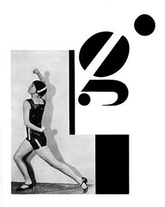 In 1926 the Czech dancer Milca Mayerová choreographed the alphabet as a photo-ballet. Each move in the dance is made to the visual counterpoint of Karel Teige's typographic music. Teige was a constructivist and a surrealist, a poet, collagist, photographer, typographer and architectural theorist, and his 1926 photomontage designs for the alphabet are a uniquely elegant and witty invention, and one of the enduring masterpieces of Czech modernism.