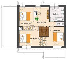 plan maisons dulap plan maison pinterest - Plan De Maison Avec Mezzanine