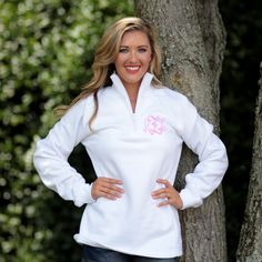 Monogrammed Pullover Sweatshirt from Marleylilly.com! #monogram #fashion