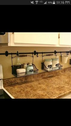 What a great idea!  Keeping the counters cludder free