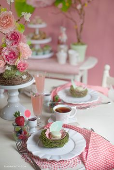 Pink + coral garden brunch party - Handcrafted Parties