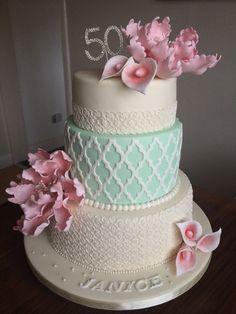 Vintage Style 50th Cake