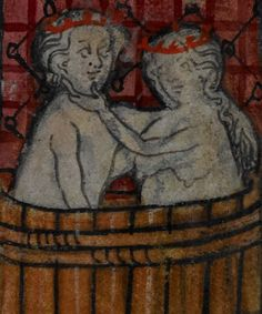 Detail from medieval manuscript, British Library Stowe MS 17 'The Maastricht Hours' f7r