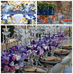 WOW factor floral centrepieces designed by wedding planner Diane at Lily of the Valley. - Dubai wedding planner.