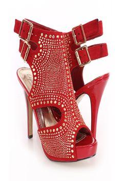 Royal blue stripper shoe