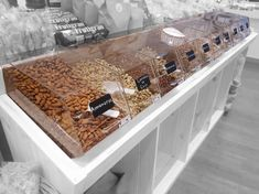 Candy Store Design, Retail Store Design, Popcorn Packaging, Coffee Packaging, Cake Supply Store, Nut Store, Herbal Shop, Smeg Kitchen, Balloon Shop