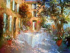 Laurent Parcelier French Artist. Terraces