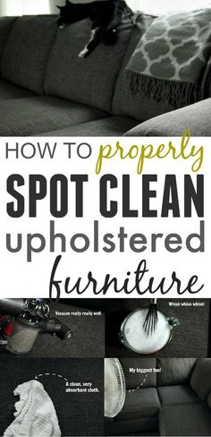 How to properly clean your upsholstery
