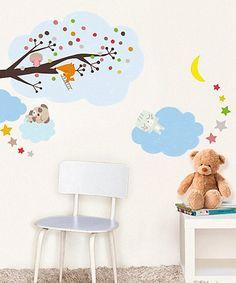 Sleepy Animals Wall Decal Set