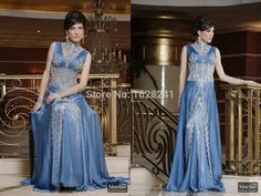 Find More Evening Dresses Information about 2015 Elegant Arabic Evening Dresses Blue Chiffon Beaded Dubai Kaftan Evening Dresses Long Evening Gowns Vestido De Festa ,High Quality dresse,China dress ball gown Suppliers, Cheap gown meaning from True Love Bridal dress Co., Ltd.  on Aliexpress.com