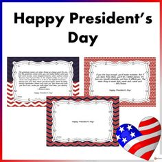 President's Day Cards: Inspirational Cards for Students Famous Presidents, Happy Presidents Day, School Resources, Classroom Resources, School Stuff, Back To School, All Schools, Different Quotes, My Teacher
