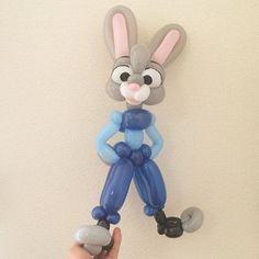 Character Figure Balloon / Judy Hopps from Zootopia #zootopia #judyhopps #disney #balloonart #ズートピア #ジュディホップス #ディズニー #バルーンアート