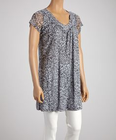 Look at this Silver Leopard Shift Dress - Women on #zulily today!