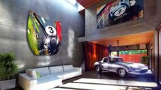 Revive your home or office with Jaguar-inspired bonnet wall art