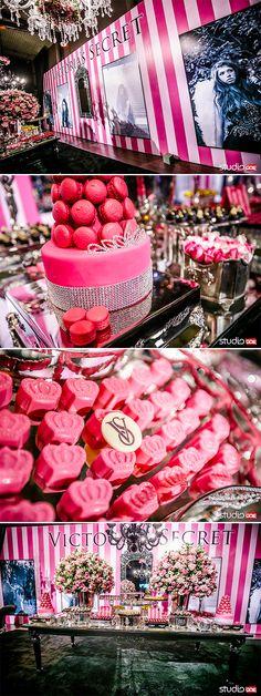 15 Anos Victoria's Secret Teen Parties, Sweet 16 Parties, Pink Parties, Victoria Secret Party, Victoria Secrets, Lingere Party, Shower Party, Bridal Shower, Happy Valentines Day
