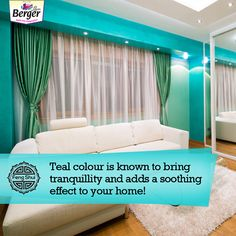 If you love the ocean, we're sure that you'll love the colour teal too. The best part is that it brings a soothing and playful energy to your interiors! Feng Shui Tips For Home, Teal Colors, Wall Decor, Ocean, Interiors, Colour, Home Decor, Home Decor Wall Art, Homemade Home Decor