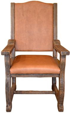 Handmade Dining Room Chairs - Custom Arm Chairs - SPT480A - dining table chairs handcrafted from solid wood, high density foam, 8-way suspension seat, full grain leather upholstery