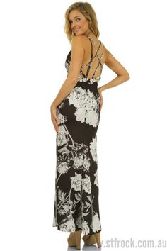 Bed of Roses Maxi Dress $35  The exciting Bed Of Roses Maxi is a luscious dress full of drama! Where shall we start? Imagine entering your next event with the black and white large rose print, which is definitely what brings attention to this dress at first, then the sharp V neckline and the body hugging fit will keep everyone's eye on you. The fearlessly high double side splits is going to raise the temperature of the room, and as you exit you'll leave them mesmerised by the multi-crossing…