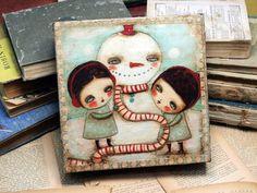 snowman mixed media - Bing Afbeeldingen