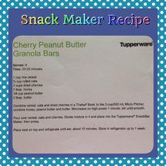 Cherry Peanut-butter Granola Bars ~ Tupperware Recipe for the Snack Bar Maker
