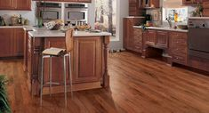 Our durable, easy-to-clean and maintain Downs LVT floors come in a variety of colors, patterns and textures so you can design a kitchen that is unique to you! Karndean Design Flooring, Hickory Flooring, Wood Tile Floors, Hardwood Floors, Kitchen Arrangement, Hickory Kitchen, Maple Floors, Flooring Store, Carpet Flooring