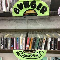 A shelf of Burger Records tapes at Streetlight Records in Santa Cruz…