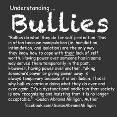Bullies and their lacking
