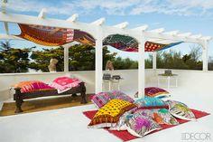 Terraza estilo marroquí con color y textura | Casa Haus