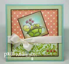 Inky Antics: Sunday Stamping With Paula Williamson: Turtle's Flowers